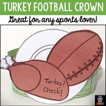 Thanksgiving Craft (Turkey Football Crown)