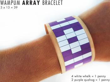 Thanksgiving Math Craft: Wampum Bracelets (Multiplication Arrays and Money)