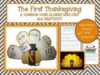 Thanksgiving Literacy Unit- Common Core Aligned with Craftivity
