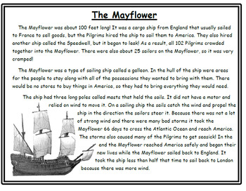 Thanksgiving Crafts and Reading The Mayflower Thanksgiving Activities Reading
