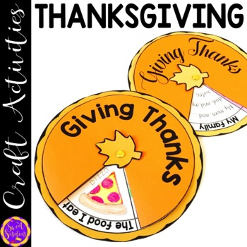 Thanksgiving Pie Craft and Writing Activity