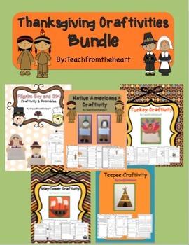 Thanksgiving Craftivities & Printables Bundle