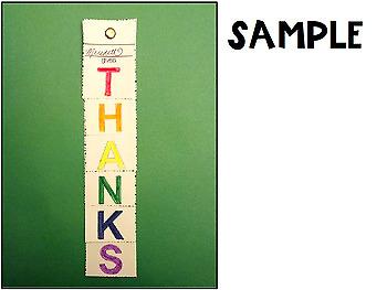 Thanksgiving Craftivity Bookmark