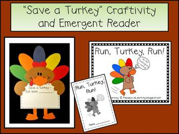 Thanksgiving Craftivity & Emergent Reader Pack