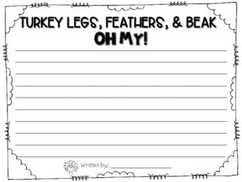"Thanksgiving Craftivity- ""I'm a Turkey!"""