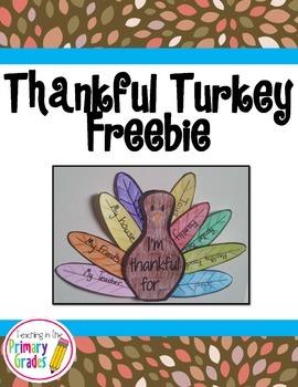Thanksgiving Craftivity- Thankful Turkey