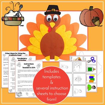 Thanksgiving Craftivity & Worksheets (especially for SLPs!)
