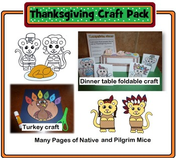 Thanksgiving Pop-Up Crafts and Writing Activity