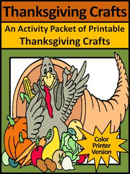 Thanksgiving Art Activities: Thanksgiving Crafts Activities - Color Version