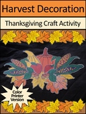 Thanksgiving Crafts Activities: Harvest Decoration Craft Activity - Color