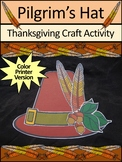 Thanksgiving Crafts Activities: Thanksgiving Pilgrim's Hat Craft Activity -Color