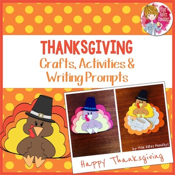 Thanksgiving Craft, Activities and Writing Prompts - Turkey