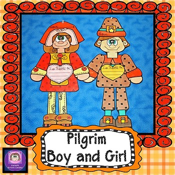Thanksgiving Crafts, Pilgrim Boy and Girl