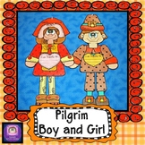 Thanksgiving Crafts, Pilgrim Boy and Girl