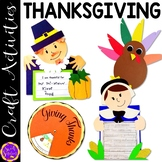 Thanksgiving Crafts: Pilgrim Man; Turkey Glyph; Native American; Pilgrim Woman