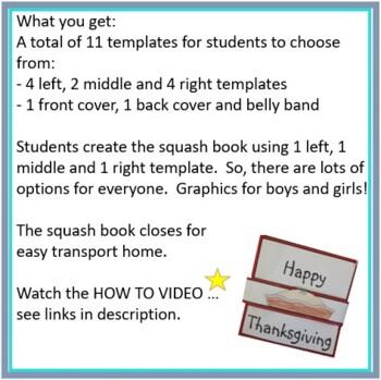 Thanksgiving Crafts - Squash Book