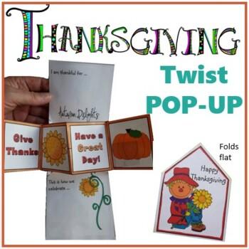 Thanksgiving Crafts - Twist POP-UP Craftivity