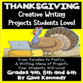 Thanksgiving Writing Projects, Nine Creative Projects Student Love!
