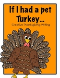 Thanksgiving Creative Writing: If I had a pet Turkey!