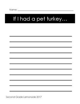 Thanksgiving Creative Writing: If I had a pet Turkey!