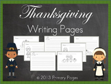 Thanksgiving Creative Writing Pages