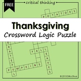 Thanksgiving Crossword Logic Puzzle
