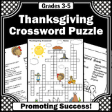 Thanksgiving Crossword Puzzle, Thanksgiving Vocabulary Worksheets