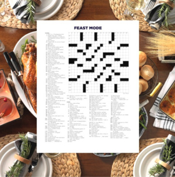 Thanksgiving Crossword Puzzle – Feast Mode (21x21)
