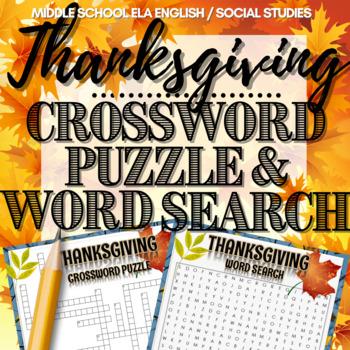 Thanksgiving Activity: Crossword Puzzle