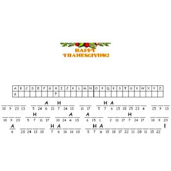 Thanksgiving Cryptogram