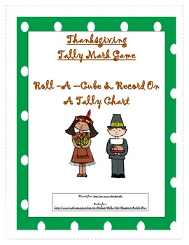 Thanksgiving Cube Tally Mark Game