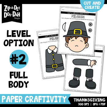 Thanksgiving Cut & Create Writing Craftivity {Zip-A-Dee-Doo-Dah Designs}