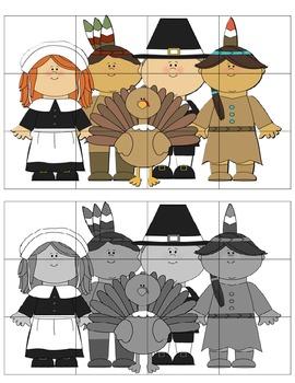 Thanksgiving Cut & Paste Puzzles