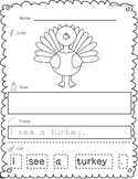 Thanksgiving Cut, Paste and Trace Sample