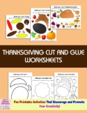 Thanksgiving Cut and Glue Worksheets