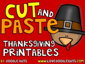 Thanksgiving Cut and Paste Printables