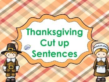 Thanksgiving Cut up Sentences