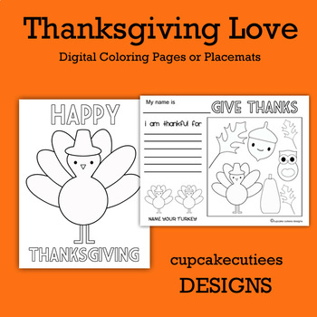 Thanksgiving Cute Coloring Page