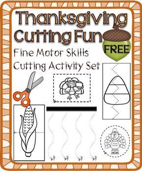 Thanksgiving Cutting Activity Set – Fine Motor Skills Development