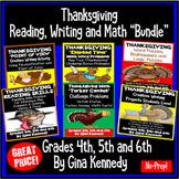 Thanksgiving Math, Reading Writing Bundle For Upper Elemen
