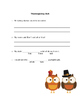 Thanksgiving Daily Language Review