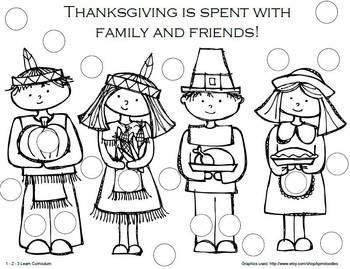 Thanksgiving Dauber Sheets