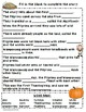 """Thanksgiving Day"" Activity / companion pack - writing, co"