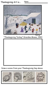 Art ... Thanksgiving Traditions (10 Open Ended Printables)