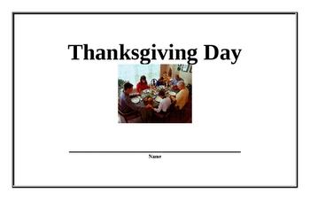 Thanksgiving Day Beginning Reader (Easy)