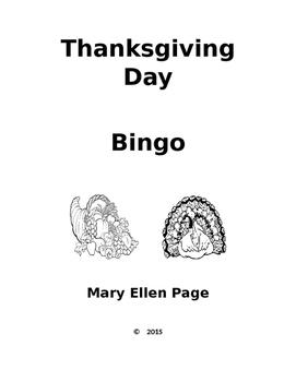 Thanksgiving Day Bingo Game