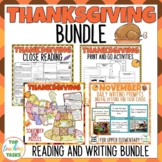 Thanksgiving Writing Reading and Creative Thinking ELA Res