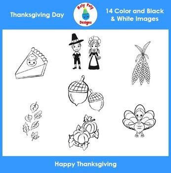 Thanksgiving Day Clip Art Set