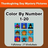 Thanksgiving Day: Color By Number 1-20 | Thanksgiving Day