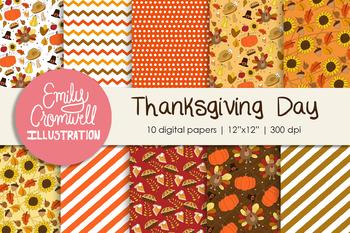 Thanksgiving Day Digital Paper
